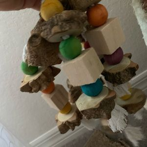 Ecologic cat toy in wood